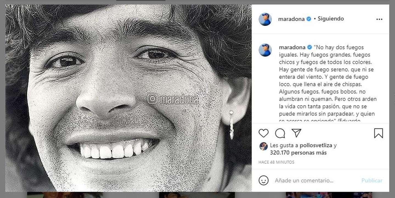 La reactivación de la cuenta de Maradona dejó al mundo conmovido.