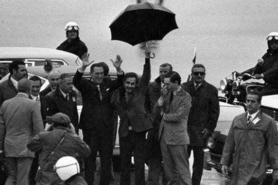 La militancia peronista celebra su día a 48 años del retorno del General Perón desde el exilio.