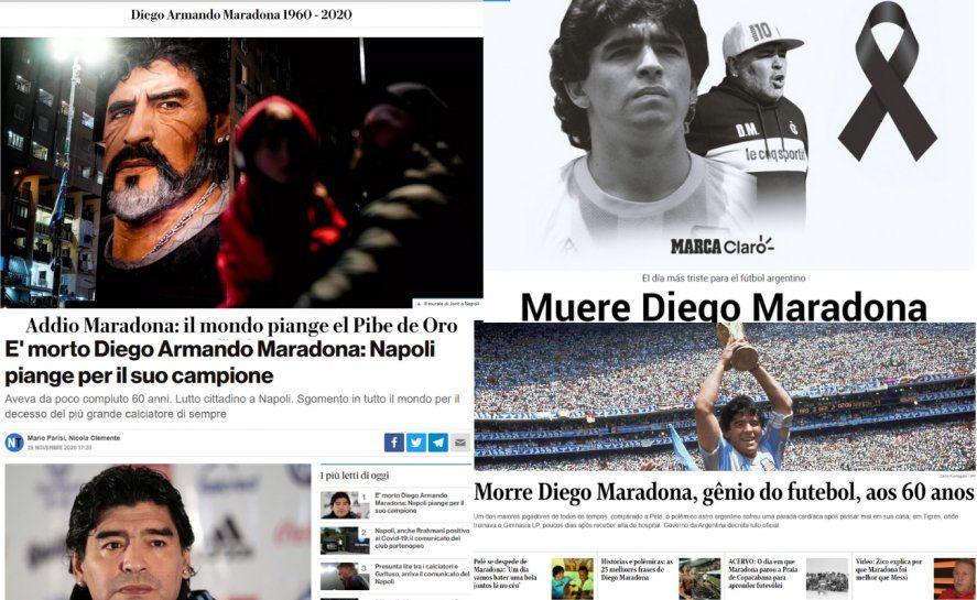 Diego Armando Maradona: así lo recordaron los portales de noticias de todo el mundo.