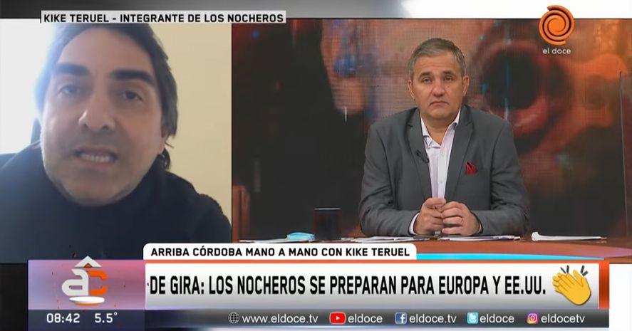 Kike Teruel de Los Nocheros mostró que en tema vacunas tiene principios firmes