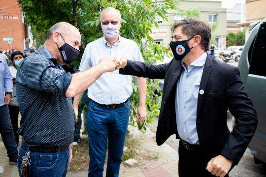 Kicillof y Gollán visitaron Ensenada y Mario Secco recibió la vacuna Sputnik V.