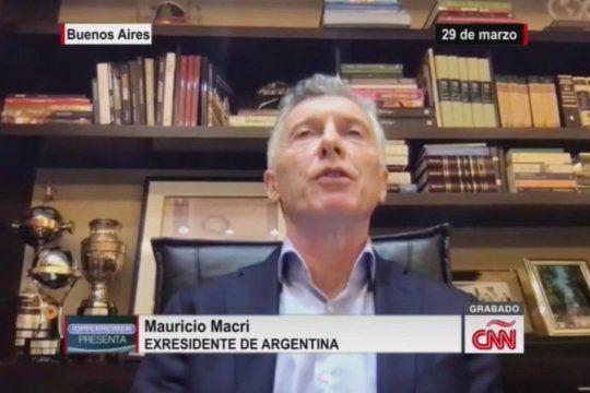 Mauricio Macri hablando de la ejemplaridad de Independencia judicial durante su mandato en una entrevista grabada el 29 de marzo por CNN y emitida anoche con evidentes cortes de edición posteriores al escándalo de las visitas de jueces a Olivos