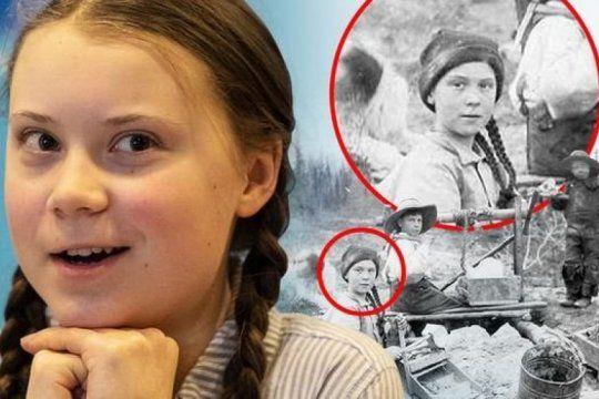 ?¿es una enviada especial??: la foto de la nena identica a greta thunberg que revoluciono las redes