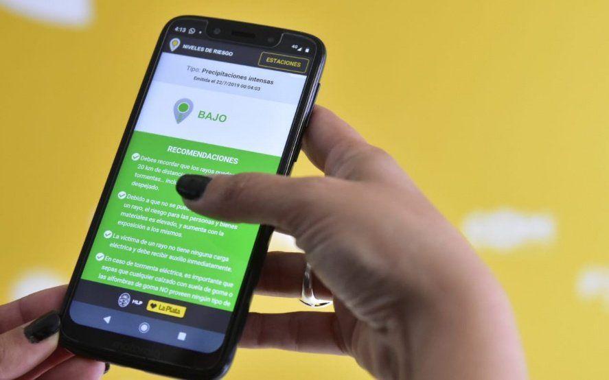 Así funciona la nueva app para saber cuánto llueve en cada barrio de La Plata en tiempo real