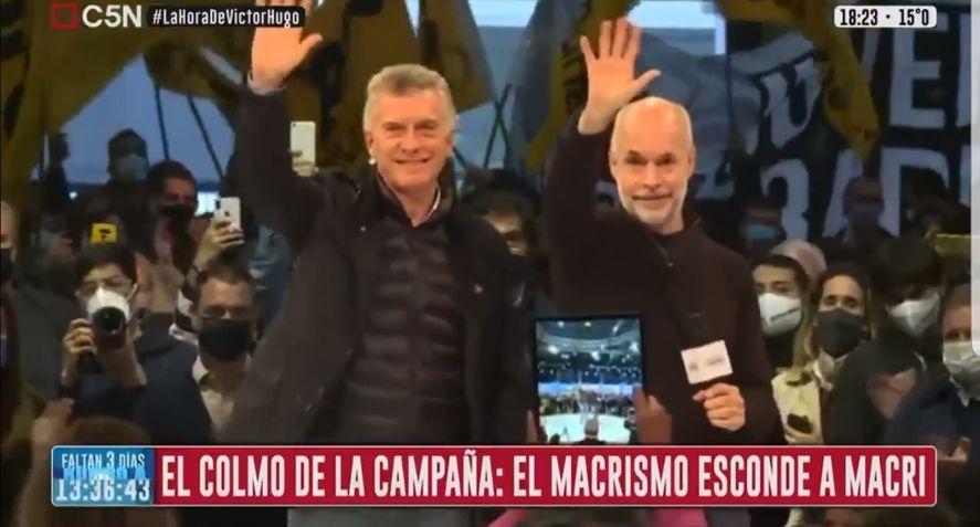 Memes por la aparición a lo Moe de Macri en el cierre de campaña