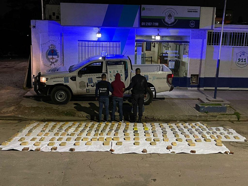 en san isidro y malvinas argentinas secuestraron mas de 230 kilos de drogas