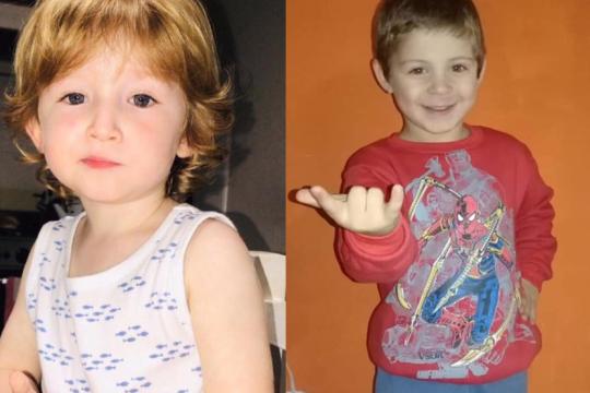 todos por pepi y benicio: lanzan una campana solidaria para ayudar a dos azulenos de 3 y 4 anos