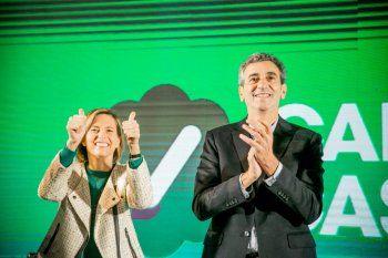 Florencio Randazzo y Carolina Castro, la fórmula de Vamos Con Vos en las elecciones 2021.