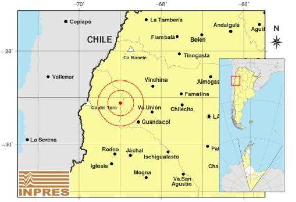 En San Juan hubo un sismo de 5.1 grados en la escala de Richter y el temblor se sintió en otras provincias.
