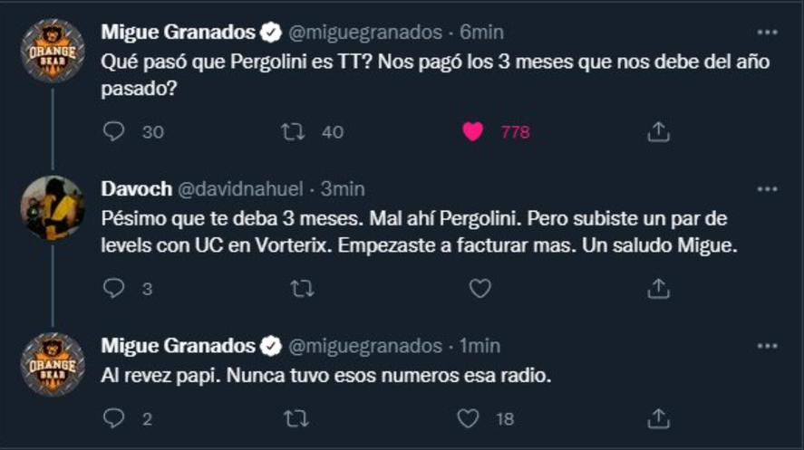 El reclamo de Migue Granados a Mario Pergolini por sueldos adeudados
