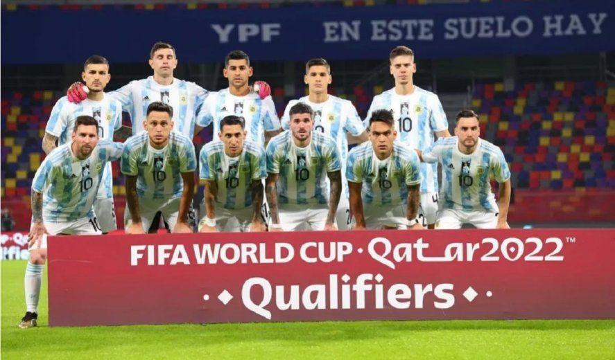 Equipo de Argentina que se midió ante Colombia en las Eliminatorias Sudamericanas