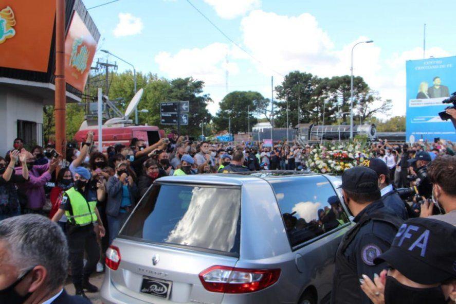 Emotiva despedida a Mario Meoni en Junín. foto Gentilez La Verdad de junín