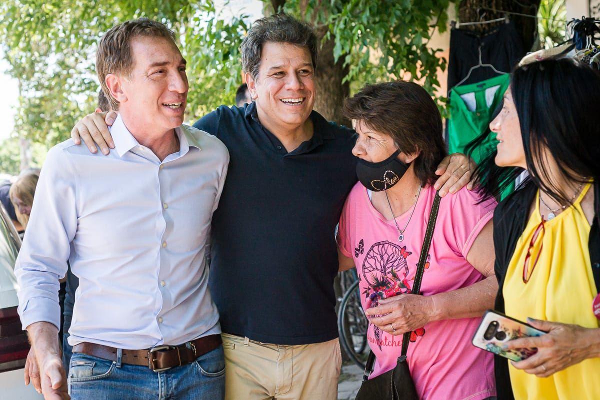 Elecciones: Diego Santilli y Facundo Manes visitaron Escobar