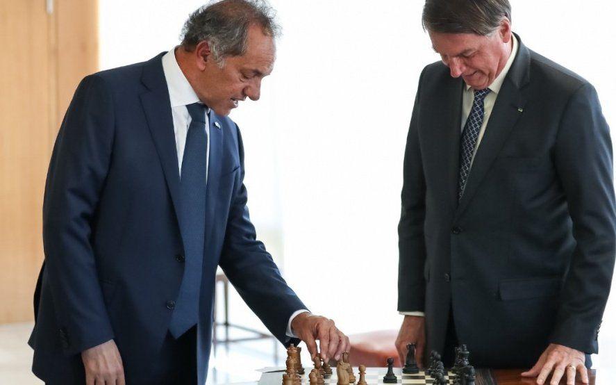 Scioli se reunió con Bolsonaro y su gobierno en el palacio de Planalto