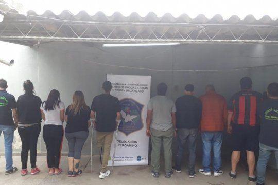 cae banda que traia droga de rosario y la vendia en pergamino: hay ocho detenidos