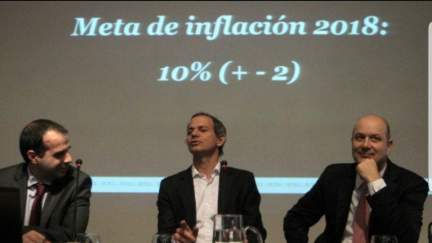 El famoso meme de la meta de inflación de 2018 cuando integraba el gobierno macrista Lucas Llach. La real ese año superó el 47 %.