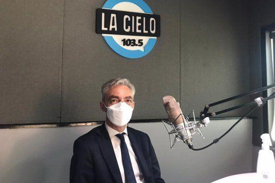 El ministro de Transporte de la Nación, Mario Meoni, enexclusiva con La Cielo.