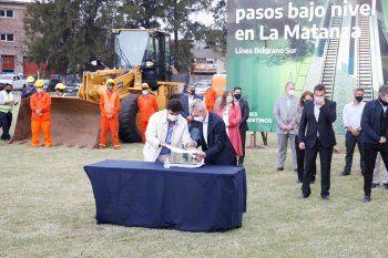 Espinoza anunció una mega obra en La Matanza
