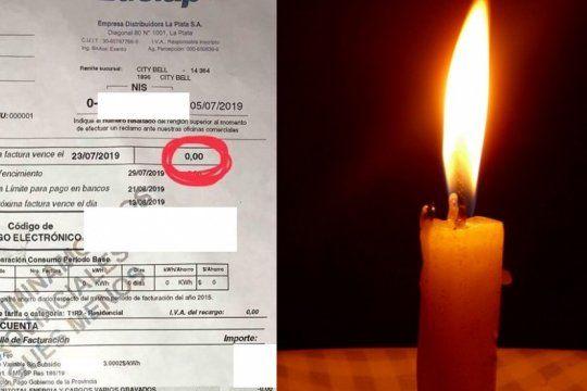 apagon en la plata: ya llegan facturas de edelap con saldo cero para los afectados