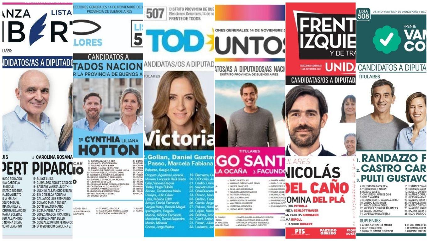 Elecciones Legislativas 2021: Boletas y candidatos a diputados nacionales por la provincia de Buenos Aires