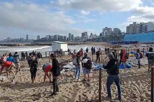 Se estima que la privatización de las playas públicas ya alcanza al 85 por ciento de la costa marplatense.