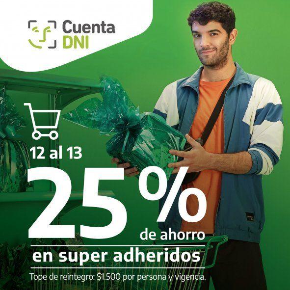 Los usuarios de Cuenta DNI de Banco Provincia tienen un 25% en supermercados adheridos hoy y mañana