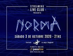 Norma dará el sábado 3 de octubre su primer show por streaming
