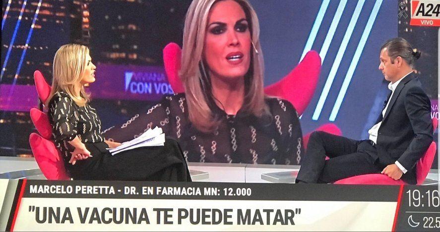 La última consigna de Viviana Canosa: La vacuna te puede matar