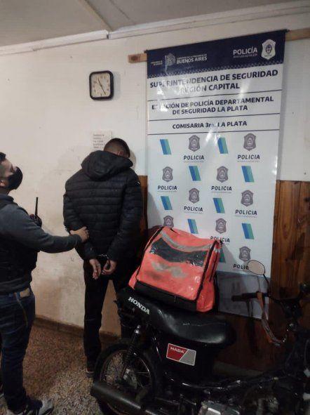 Cayó otro falso repartidor de Rappi tras una persecución en La Plata