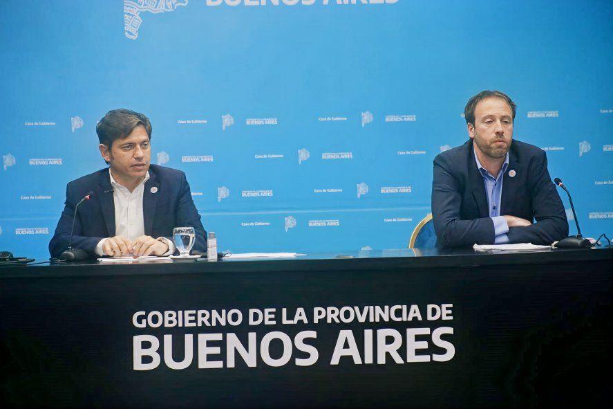 Axel Kicillof y Pablo López anunciaron en conferencia de prensa la reestructuración de la deuda en Ley extranjera.