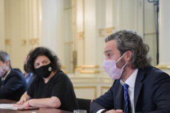 Santiago Cafiero y Carla Vizzotti encabezarán una nueva reunión del Gobierno con el Comité de Expertos por la situación santiaria.