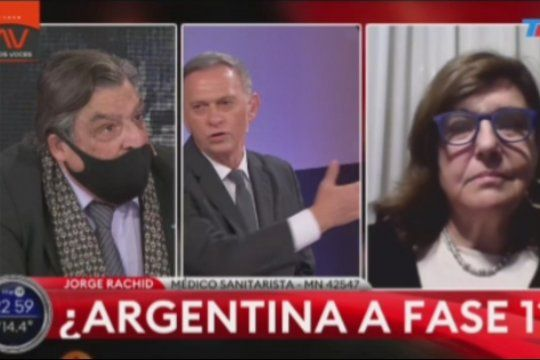 Marcelo Bonelli se trenzó en un fuerte contrapunto con el asesor bonaerense en políticas sanitarias Jorge Rachid, sobre el rol de los medios hegemónicos en la pandemia