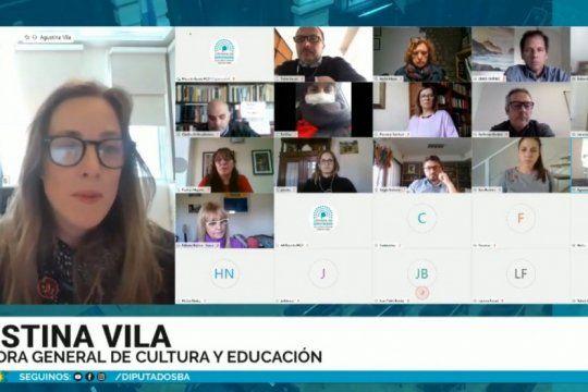 vila expuso en diputados y la oposicion quiere colaborar con la vuelta a clases