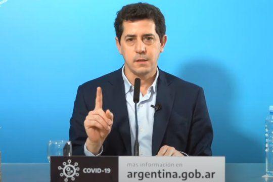El ministro del Interiro, Eduardo Wado De Pedro, habló a través de un mensaje grabado en el que desmintió a Larreta.