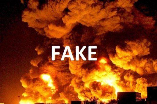 fake news en bahia blanca: difunden una potente explosion en el polo petroquimico con imagenes falsas