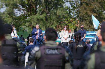 Alberto Fernández anunció un refuerzo para la seguridad del AMBA