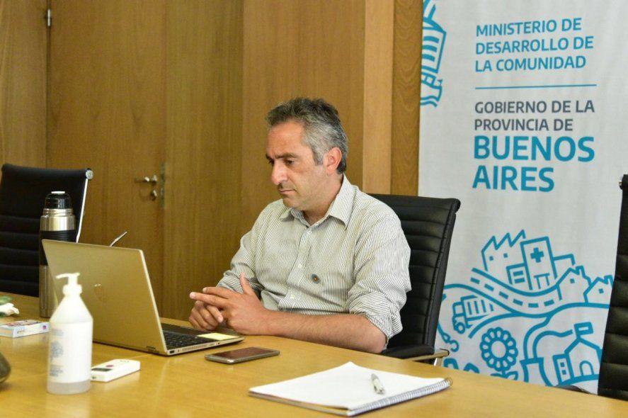 El ministro de Desarrollo de la Comunidad, Andrés Larroque