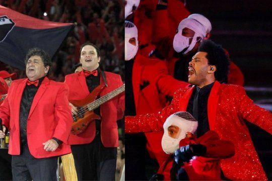 En las redes, compararon el show de The Weeknd con el de Los Palmeras