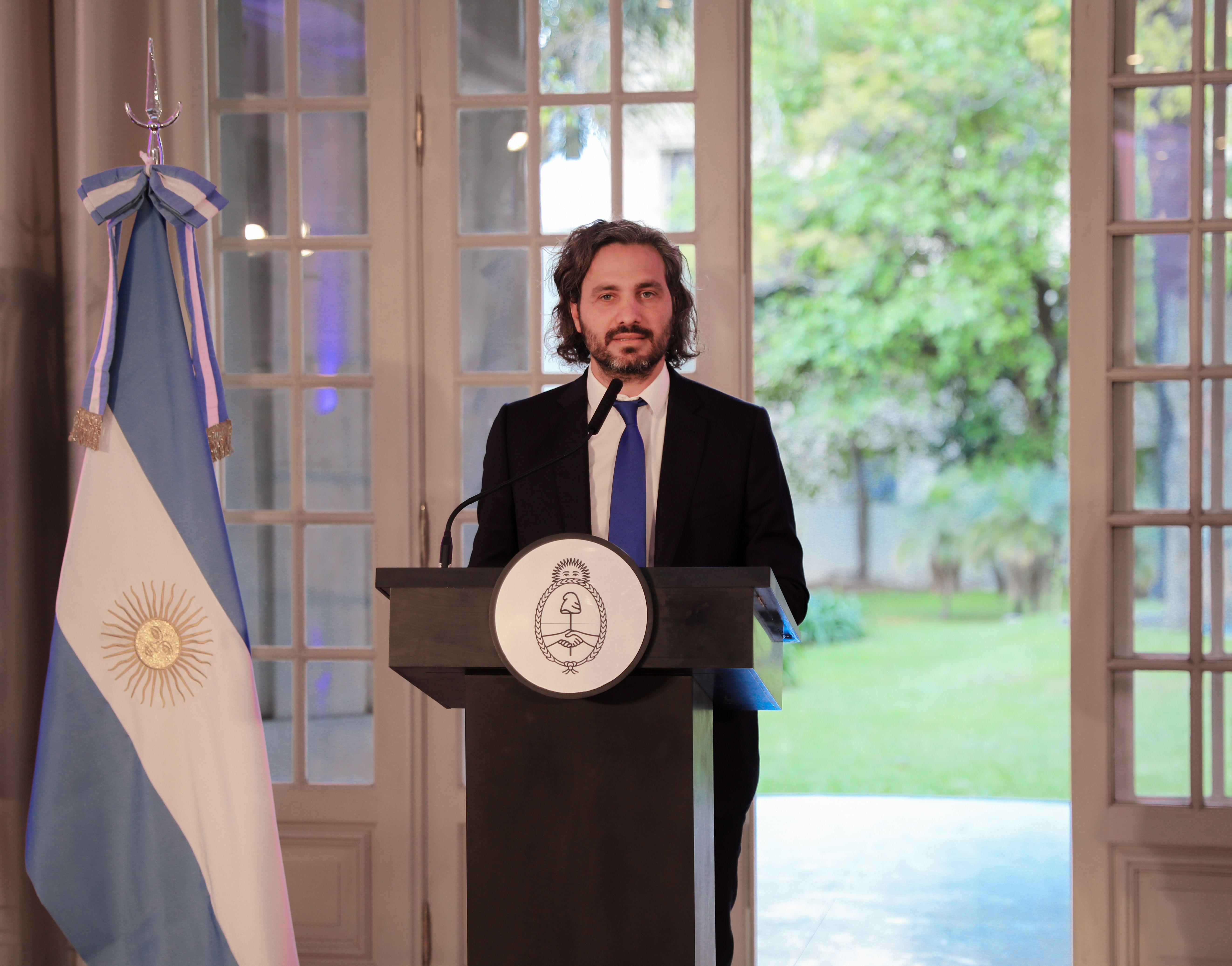 El Ministro de Relaciones Exteriores y Culto de la Nación, Santiago Cafiero