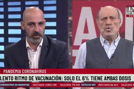 El inefable Dr. Kambourian aseguró, sin inmutarse, que él tiene imágenes de como en una provincia argentina se cambian vacunas y torta frita por votos