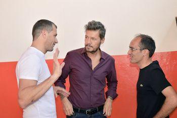 Eduardo Bali Bucca junto a Marcelo Tinelli y el intendente de Bolívar Marcos Pisano