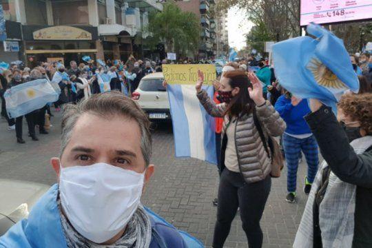 dirigentes de cambiemos hicieron a una marcha por seguridad en quilmes y llamaron a tn