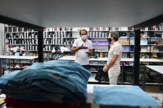 Julio Garro en la fábrica de Tiza