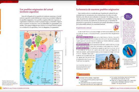 En la página 18 del manual se omite a la mitad de los pueblos originarias actuales.