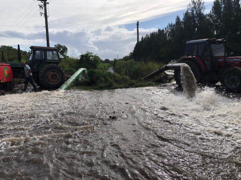 Castelli soportó 350 milímetros de lluvia en sólo 4 horas