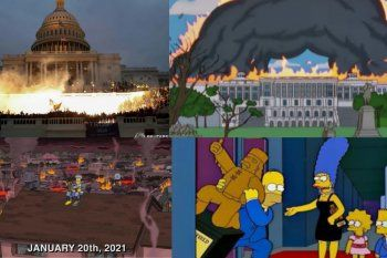 Como ya es costumbre, los hechos de ayer en el Capitolio de los Estados Unidos habían sucedido hace años en Los Simpsons.