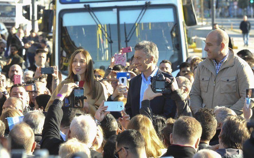 Macri y Vidal inauguraron el Metrobus en Quilmes: Esto es progreso real