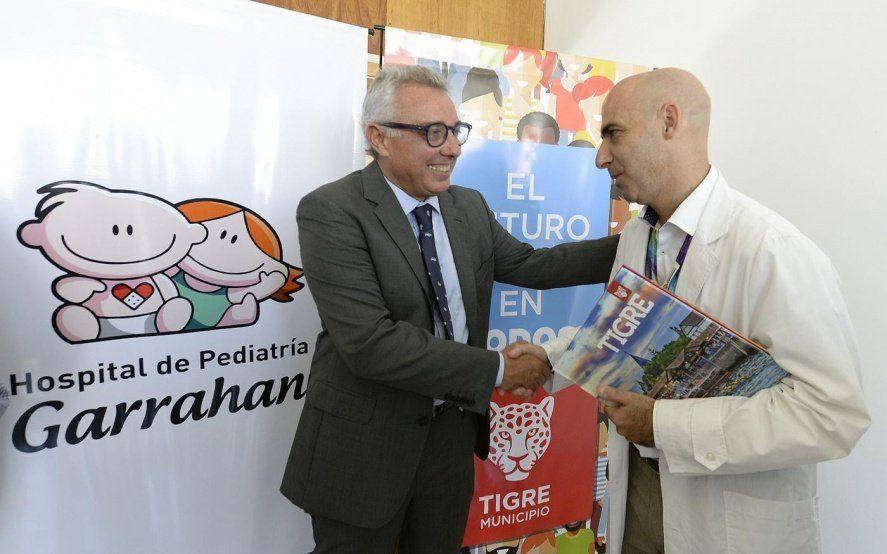 Tigre firmó un convenio con el Garraham para atender la salud pediátrica