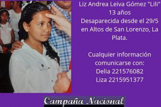 buscan intensamente a liz, una nena de 13 anos desaparecida en la plata