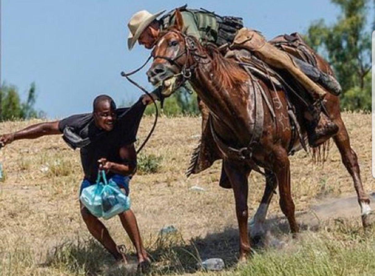 guardias estadounidenses atacan a latigazos a inmigrantes haitianos